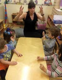 Занятие по сенсорному развитию с детьми раннего возраста.