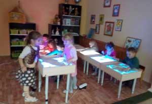 Приёмы рисования песком на световом столе
