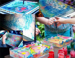 Мастер-класс «Техника рисования по воде»