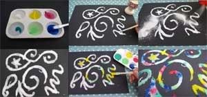 Конспект открытого занятия с детьми среднего дошкольного возраста по теме: Нетрадиционная техника рисования «Царство соли»