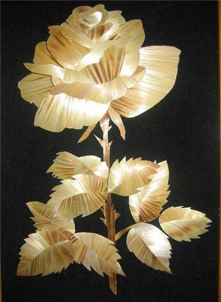 Поделки из соломы - цветок