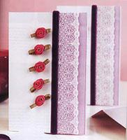 Ленточки и цветочки - открытка своими руками