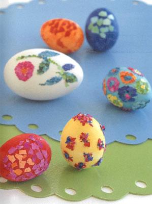 Декор пасхальных яиц. Мозаика.