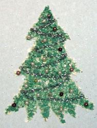 Поделка, Новогодняя елочка-картинка