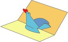 Поделки на день Святого Валентина - Открытка голубь