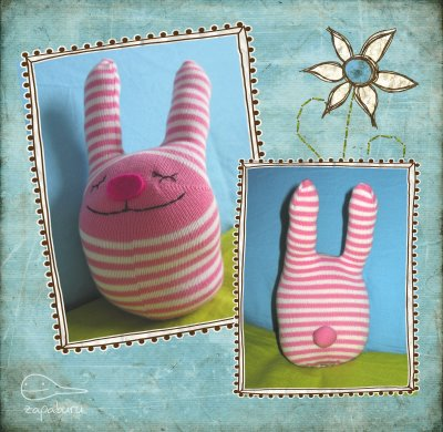 Заяц носочный счастливый